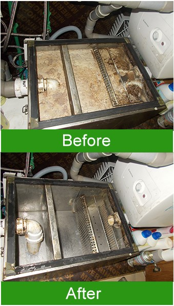 Before and After of Grease Trap Service